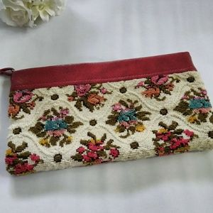 Handbags - Tapestry Red Trim Clutch